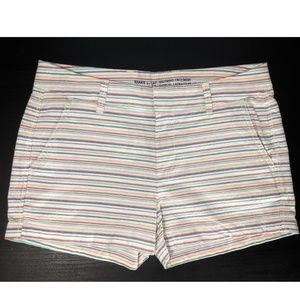Gap Khakis By Gap Girlfriend Striped Shorts